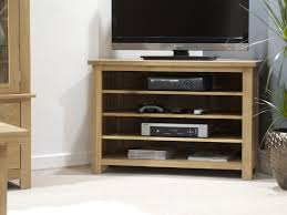 Living Room Light Stand by Furniture Light Brown Wooden Corner Tv Stand With Four Shelves