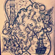 ship and waves tattoo sketch real photo pictures images and