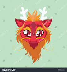 cute dragon avatar flat colors stock vector 263733635 shutterstock