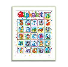 Abc Nursery Decor Alphabet Print Abc Nursery Wall Animal Alphabet For