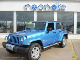 jeep dark blue 2010 jeep wrangler unlimited sahara 4x4 in surf blue pearl