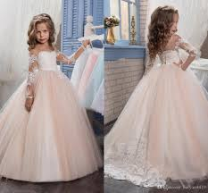 flower girl dresses 2017 arabic blush pink flower dresses for weddings