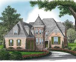 French Country European House Plans Plan 17578lv Elegant Curved Turret Bonus Rooms Exterior And Pantry