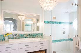 Blue Glass Tile Bathroom Bathroom Glass Tile Accent Ideas Bathroom Contemporary With Blue