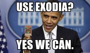 use exodia yes we can obama yugioh meme generator