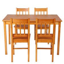 light brown ikayaa modern 5pcs wood kitchen dining table chairs ikayaa modern 5pcs wood kitchen dining table chairs set