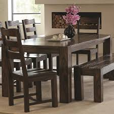 Coaster Dining Room Sets Calabasas Contemporary Dining Table With Wavy Wood Grain Coaster