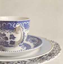china cup and plates photograph by lyn randle