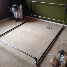 How To Make Bed Frame How To Build A Diy Bed Frame Out Of Metal Pipe Removeandreplace Com