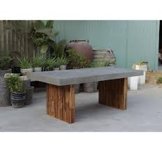 concrete and wood dining table concrete dining table