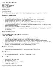 Sample Resume Truck Driver by Local Driver Cover Letter