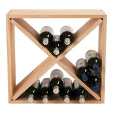 wine enthusiast companies stackable cube 24 bottle tabletop wine