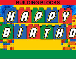 building blocks editable thank you notes u2013 instant download