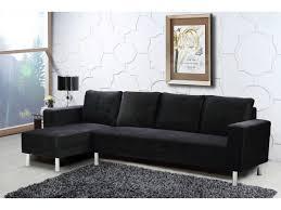 canape d angle noir canapé d angle tissu réversible 5 places noir 69331 78604