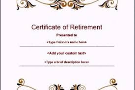 retirement certificate templates for word 300x200 jpg