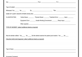 technology incident report template and incident report format