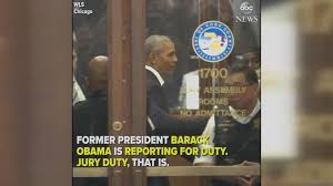 resume duties or accomplishments of obama obama shows up in chicago for jury duty video abc news