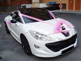 peugeot cars malaysia peugeot rcz pink decorations bridal car car