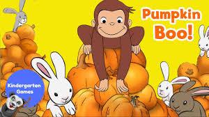 curious george halloween pumpkin boo youtube