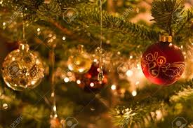 tree with lights and ornaments on sale