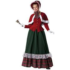 Victorian Costumes Halloween Charles Dickens Caroler Costume Victorian Yuletide Lady Christmas