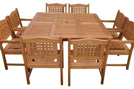 Milano Patio Furniture by Milano 9 Piece Patio Dining Set Transitional Outdoor Dining