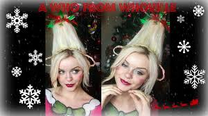 a who from whoville makeup hair tutorial