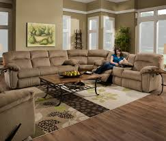 Modern Reclining Sectional Sofas by Sectional Sofas With Recliners And Chaise Turner Square Arm