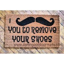 i mustache you to remove your shoes funny novelty doormat shoes