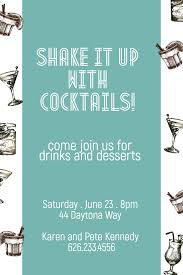 image template shake it up with cocktails come join