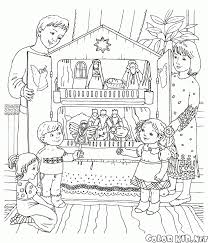 coloring page christmas house