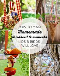 how to make birdseed ornaments birds will