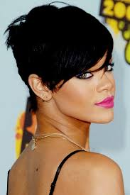 rihanna short hairstyles back view hairstyle pop