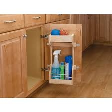 rev a shelf inside door 2 tier wood cleaning supply caddy
