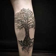 50 mighty tree designs and ideas tree tattoos calves and