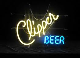 light up beer signs clipper beer in neons light up signs bar sport neons