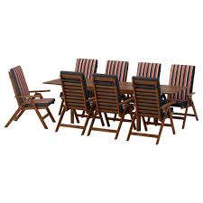 Hayley Dining Room Set äpplarö Table 8 Reclining Chairs Outdoor äpplarö Brown Stained