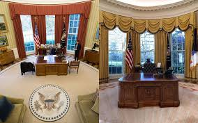 Trump Oval Office Rug Oval Office Redecorated President Donald Trump