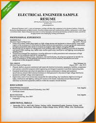 Resume Examples Electrical Engineer Resume Format For Electrical Engineer Cv Format For Electrical