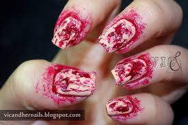 vic and her nails halloween nail art challenge blood and or gore