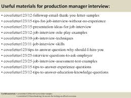 Sample Resume For Production Manager by Top 5 Production Manager Cover Letter Samples