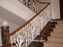 Decorative Railing Interior Popular Practical Use Decorative Hand Forged Wrought Iron Stair