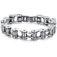 mens stainless steel chain bracelet images Mens stainless steel motorcycle chain bracelet 8 inches reviews jpg