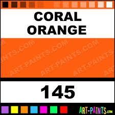 coral orange classic oil paints 145 coral orange paint coral