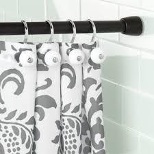 Tension Shower Curtain Rod Matte Black Shower Curtain Rods You Ll Wayfair