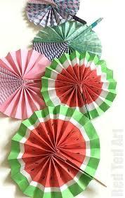 paper fans diy paper fan melon fans ted s
