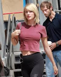 Tits Meme - taylor swift flaunts fuller chest in clingy red crop top after