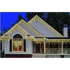 icicle christmas lights time 300 count high density clear icicle christmas lights