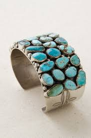 turquoise stone navajo multi stone turquoise sterling silver cuff bracelet