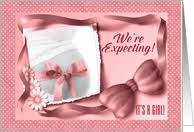baby girl announcements we re expecting a girl announcements from greeting card universe